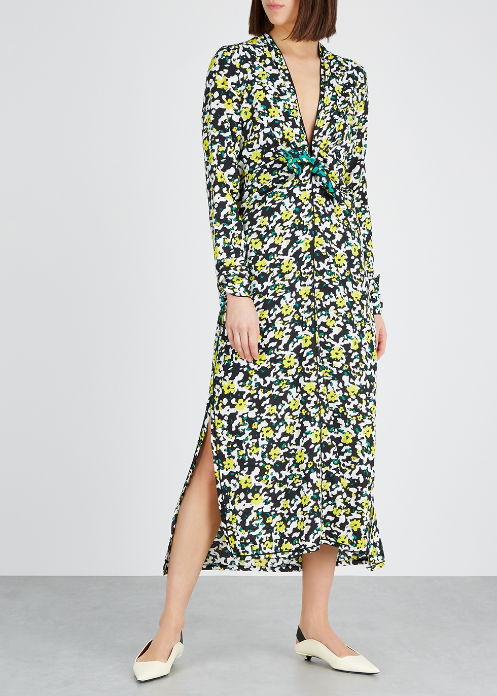 Wildflower floral-print midi dress - Proenza Schouler