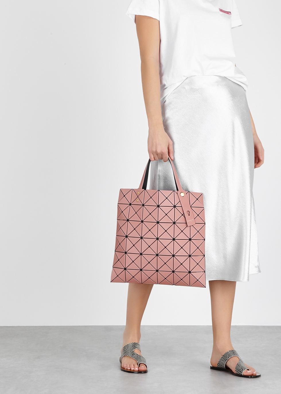 BAO BAO ISSEY MIYAKE Lucent Frost pink tote - Harvey Nichols f32d50abf2f38