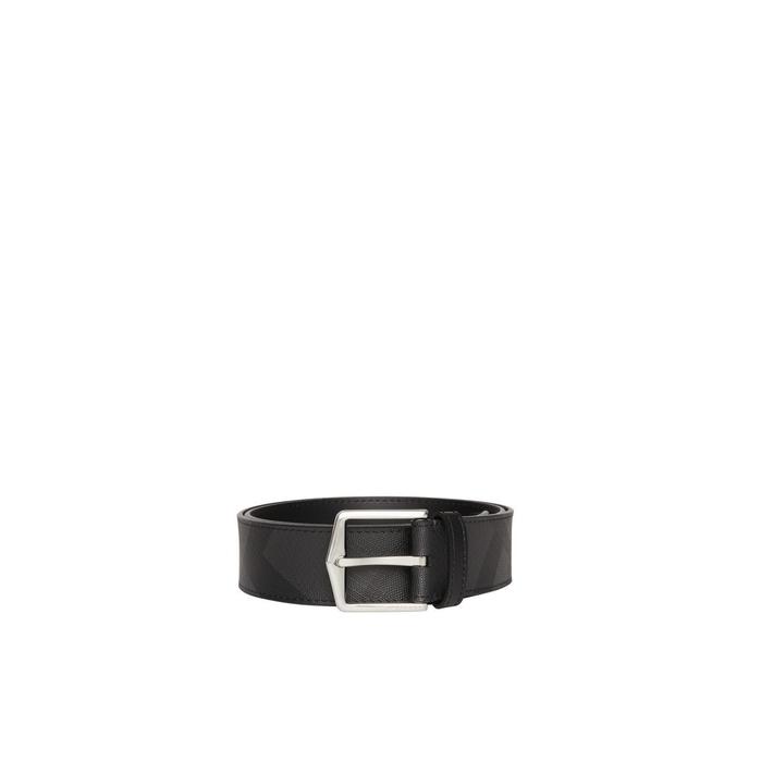 Burberry Leather Trim London Check Belt