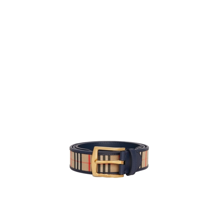 Burberry 1983 Check And Leather Belt