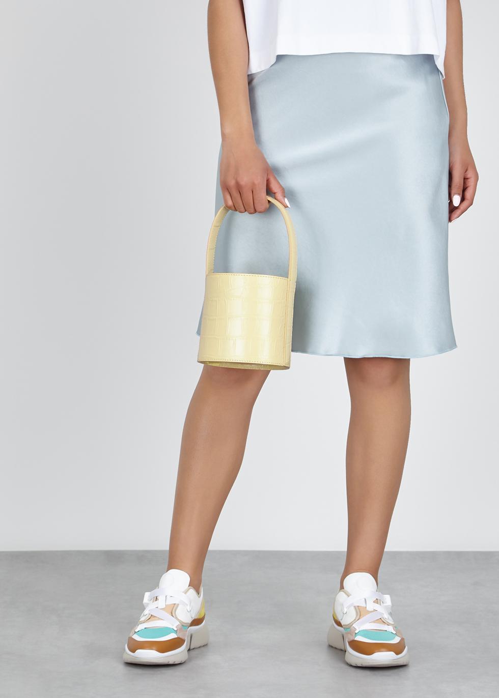 Bissett mini crocodile-effect bucket bag - STAUD