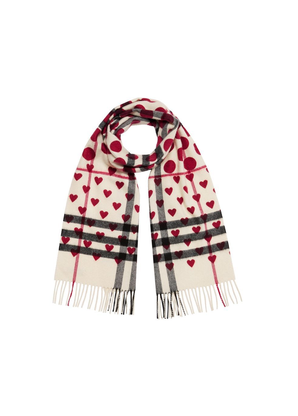The classic heart check cashmere scarf - Burberry