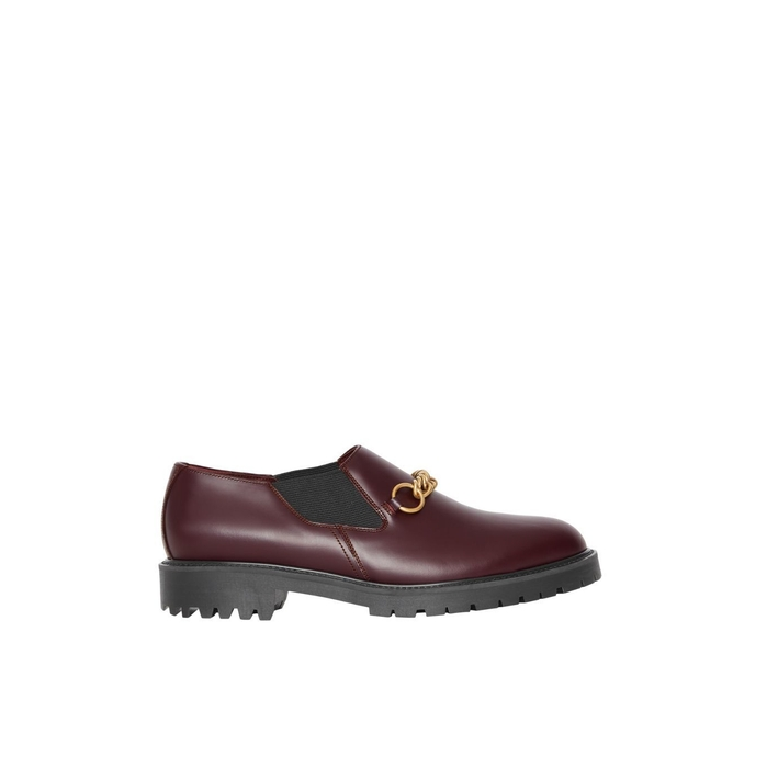 Burberry Link Detail Leather Shoe