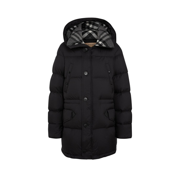 c57f2c81777e Burberry Check Detail Down-filled Hooded Puffer Coat