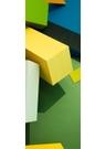 Green blocks wide silk scarf - Susi Bellamy
