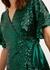 Alexis green sequin wrap top - Kitri