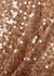 Column copper sequinned gown - Galvan