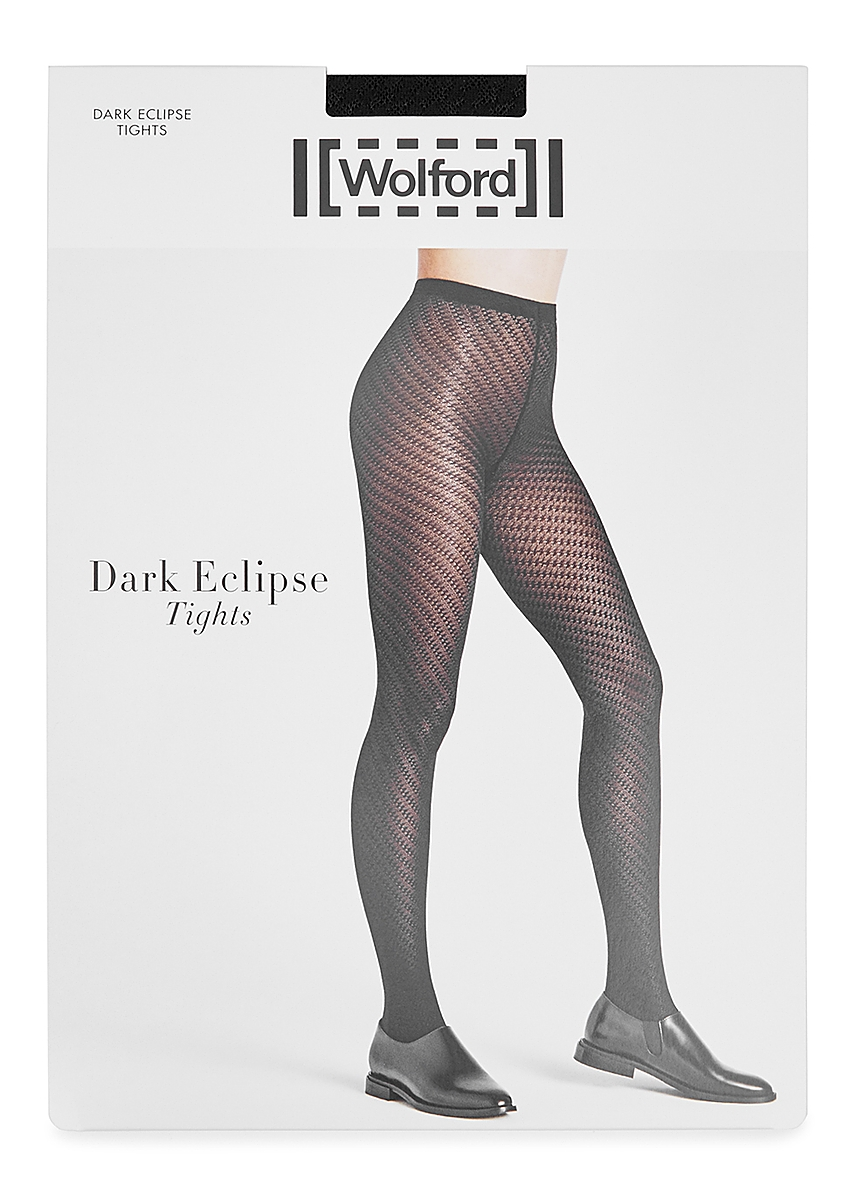 a4387cace Dark Eclipse black textured tights ...