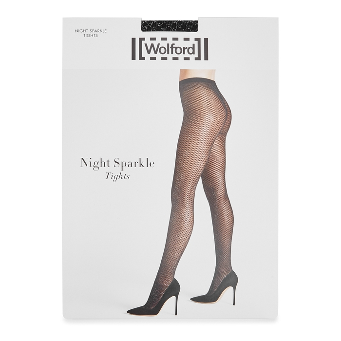 Wolford Knits NIGHT SPARKLE METALLIC-KNIT TIGHTS