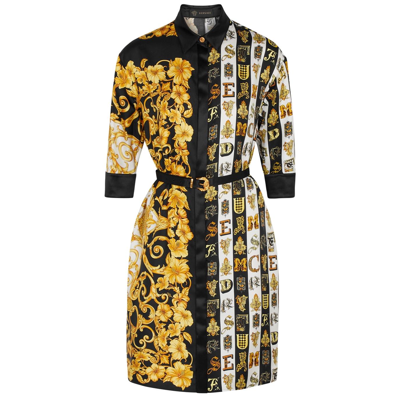 f9351d09f26a Versace Baroque-print silk-twill shirt dress - Harvey Nichols