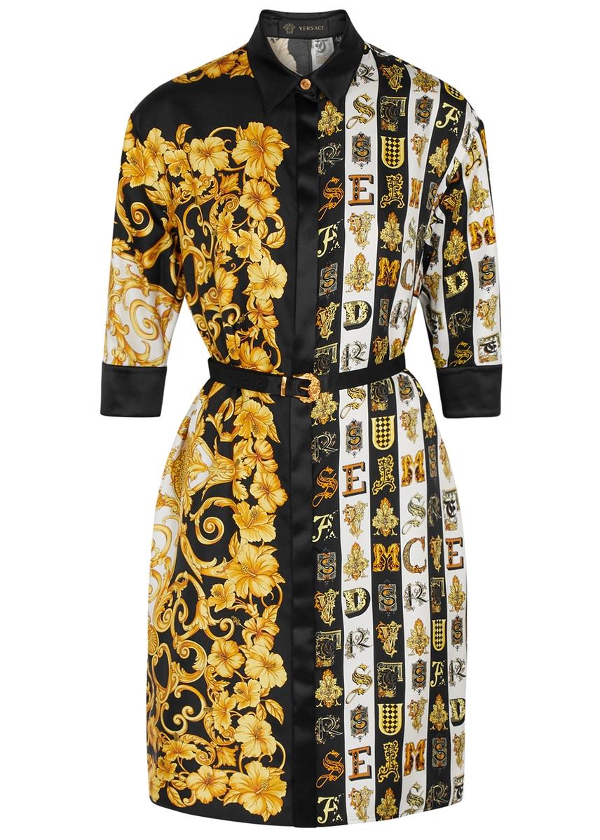 293522148df4 Baroque-print silk-twill shirt dress ...