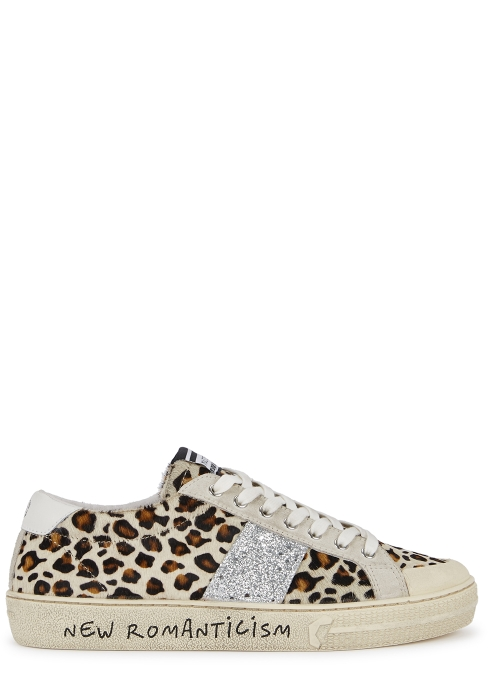 MOA Master of Arts Playground leopard-print calf hair trainers ... 13840b77551