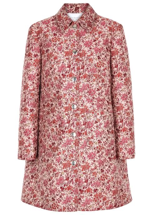 f09cf57759ca1 Giambattista Valli Light pink floral jacquard coat - Harvey Nichols