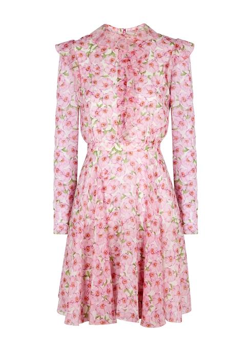 1c760f2394143 Giambattista Valli Floral-print silk dress - Harvey Nichols
