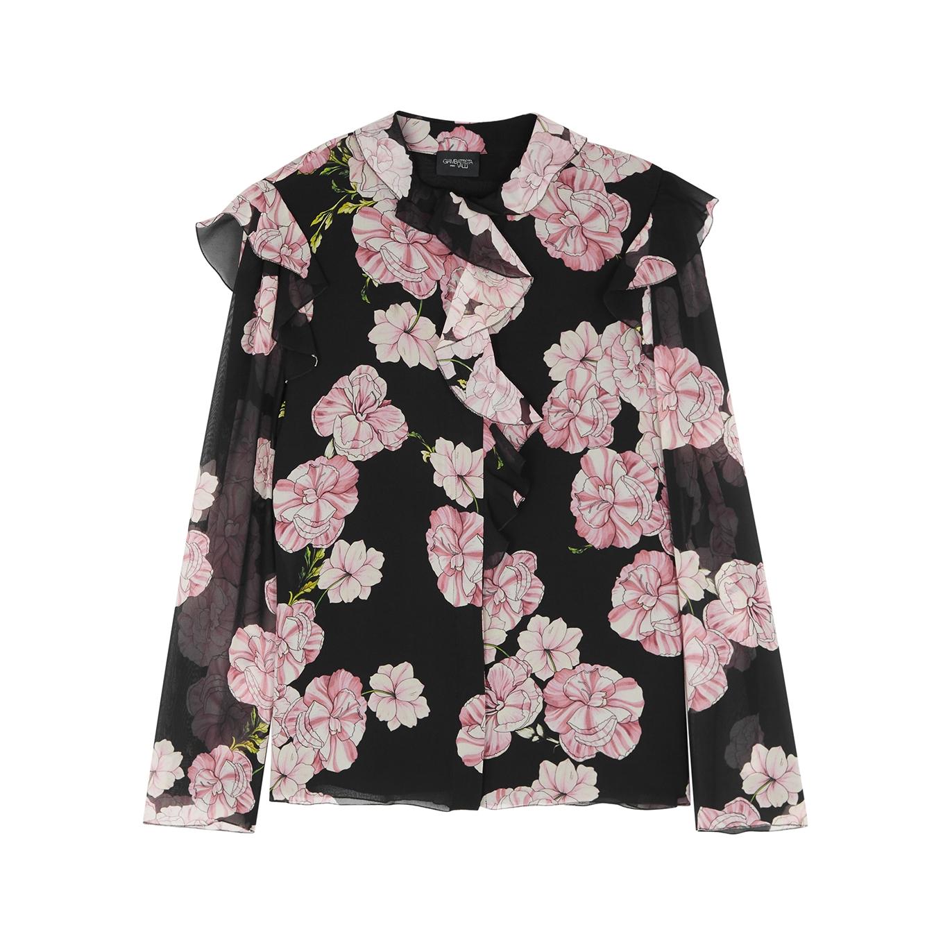 e81b7c001bc11 Giambattista Valli Floral-print silk blouse - Harvey Nichols