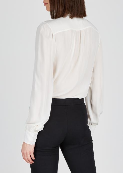 ab10af7e27bfb Giambattista Valli Ivory silk blouse - Harvey Nichols
