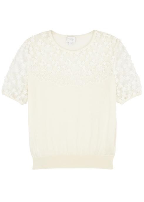 06edaf6d9b25b Giambattista Valli Ivory cashmere and silk-blend jumper - Harvey Nichols