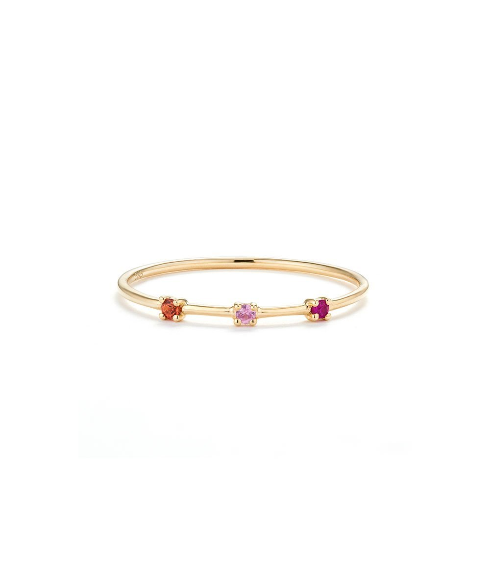 EDGE OF EMBER Pink Gemstone Ring