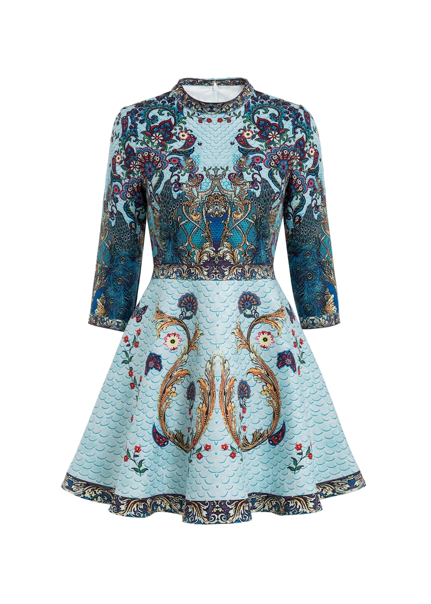 1830748931 Comino couture peacock skater dress ...