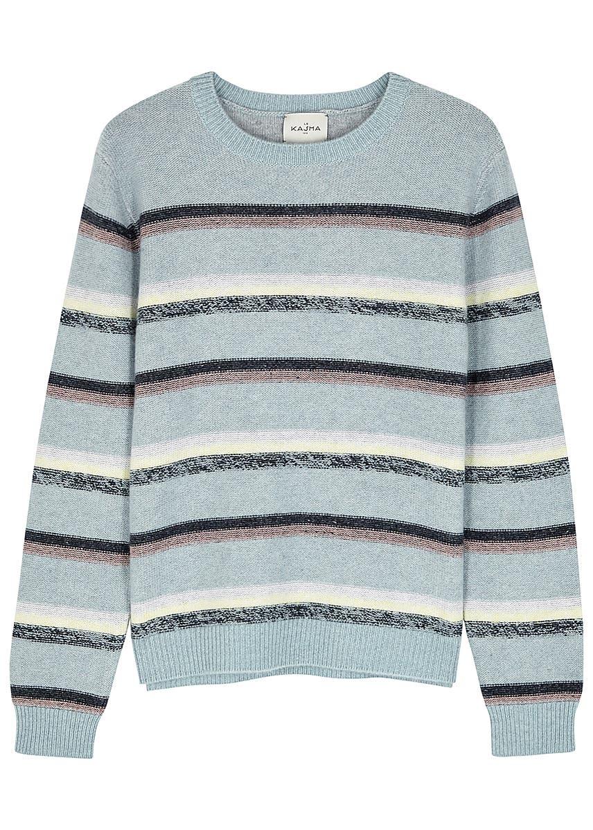 a58911a1cf1527 Le Kasha. Toucques striped cashmere jumper