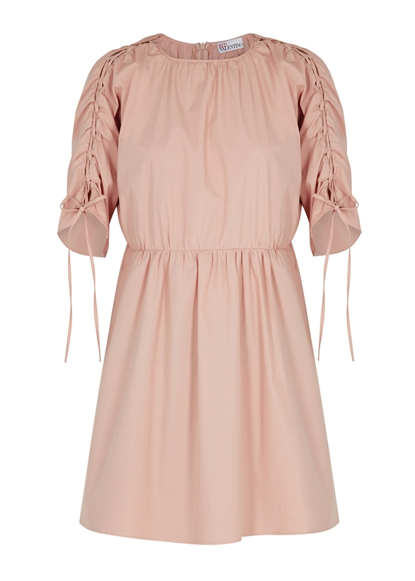 ef9aff05bd2fa Rose ruched stretch-cotton dress ...