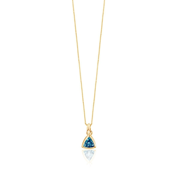 Edge Of Ember BLUE TOPAZ CHARM NECKLACE