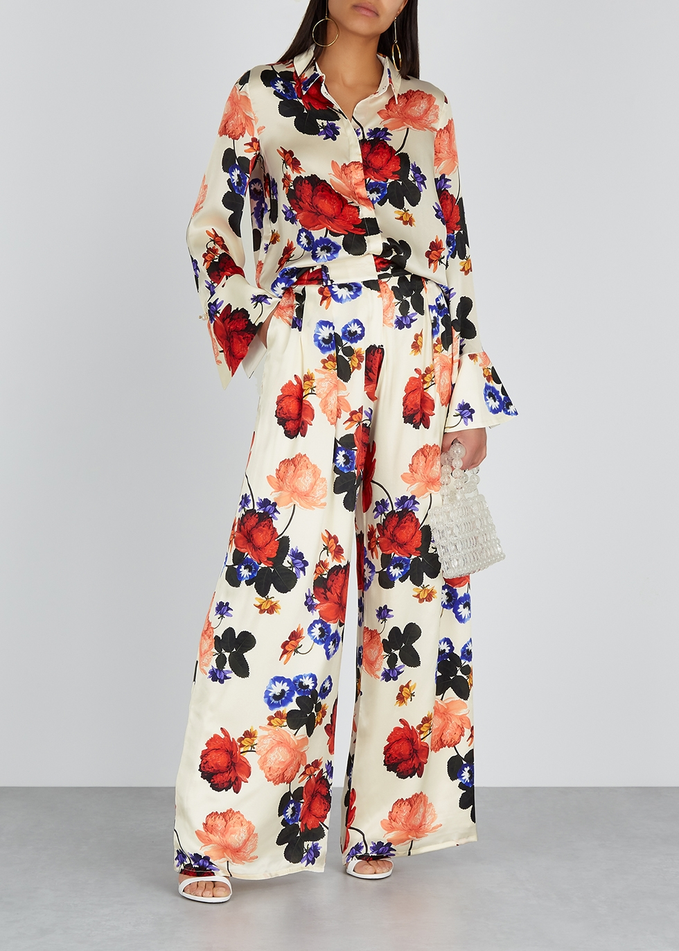 Vera floral-print silk blouse - Mother of Pearl