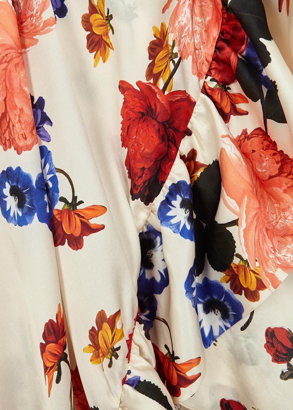Naomi floral-print silk midi dress - Mother of Pearl