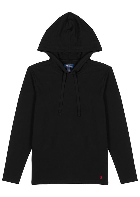 1360f89a34e8 Black hooded cotton sweatshirt ...