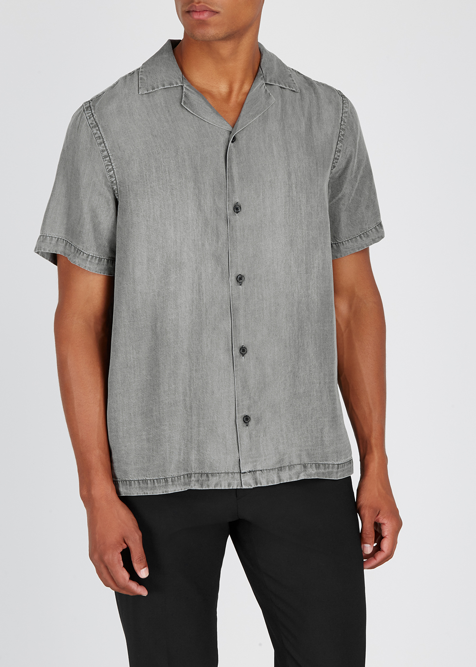 Grey brushed denim shirt - Saturdays NYC