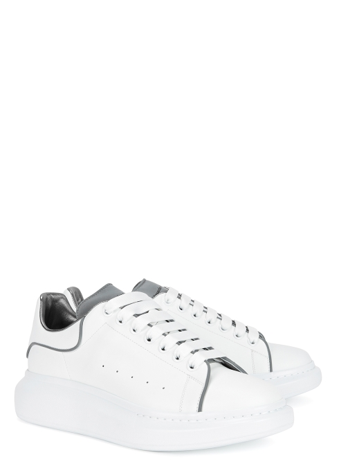294360b0dae4 Alexander McQueen Larry white reflective leather trainers - Harvey ...
