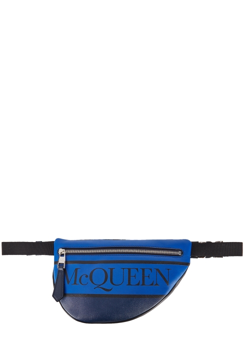 aabbdc95558e Alexander McQueen Logo-print leather belt bag - Harvey Nichols