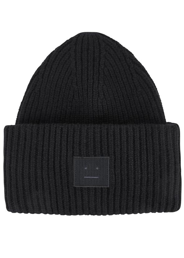 Pansy black wool beanie 602670a4474
