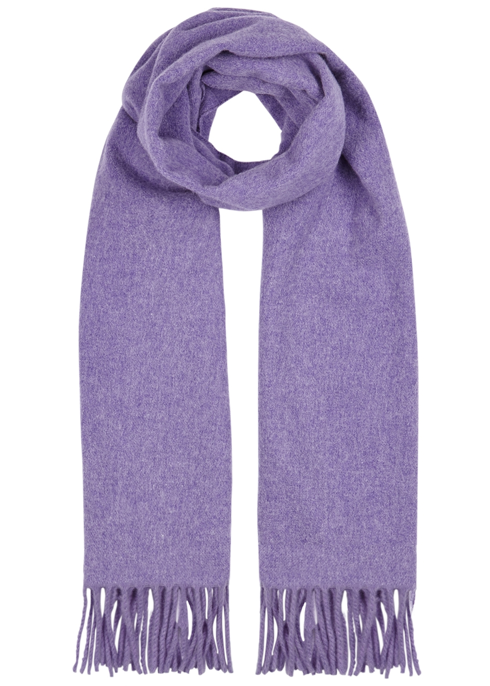 Canada lilac mélange wool scarf - Acne Studios