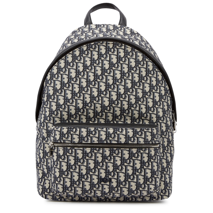 Dior Homme Backpacks DIOR OBLIQUE LOGO CANVAS BACKPACK