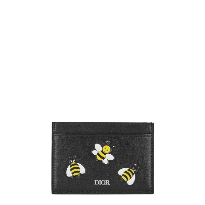 Dior Homme Accessories X KAWS BEE-PRINT LEATHER CARD HOLDER