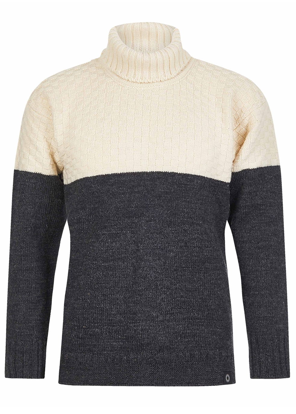 SHACKLETON Signature Sweater - Cream-Charcoal