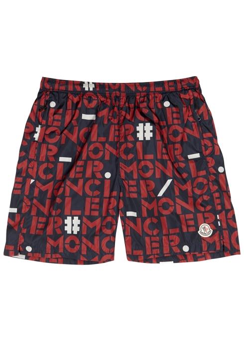c9f14a2594 Moncler Genius 1952 logo-print swim shorts - Harvey Nichols
