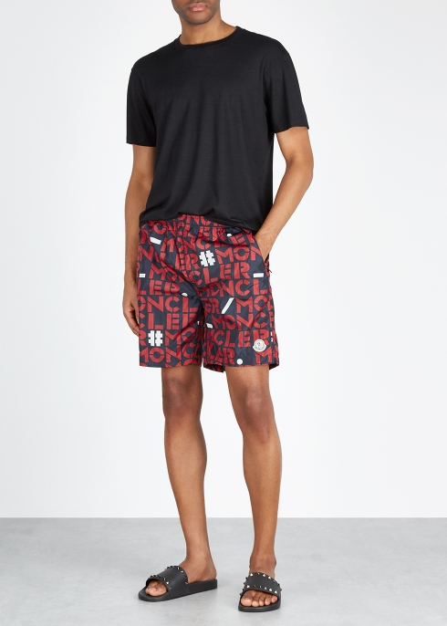 679374613 Moncler Genius 1952 logo-print swim shorts - Harvey Nichols
