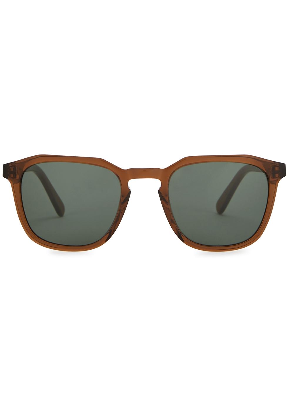 Marshall brown wayfarer-style sunglasses - Finlay & Co