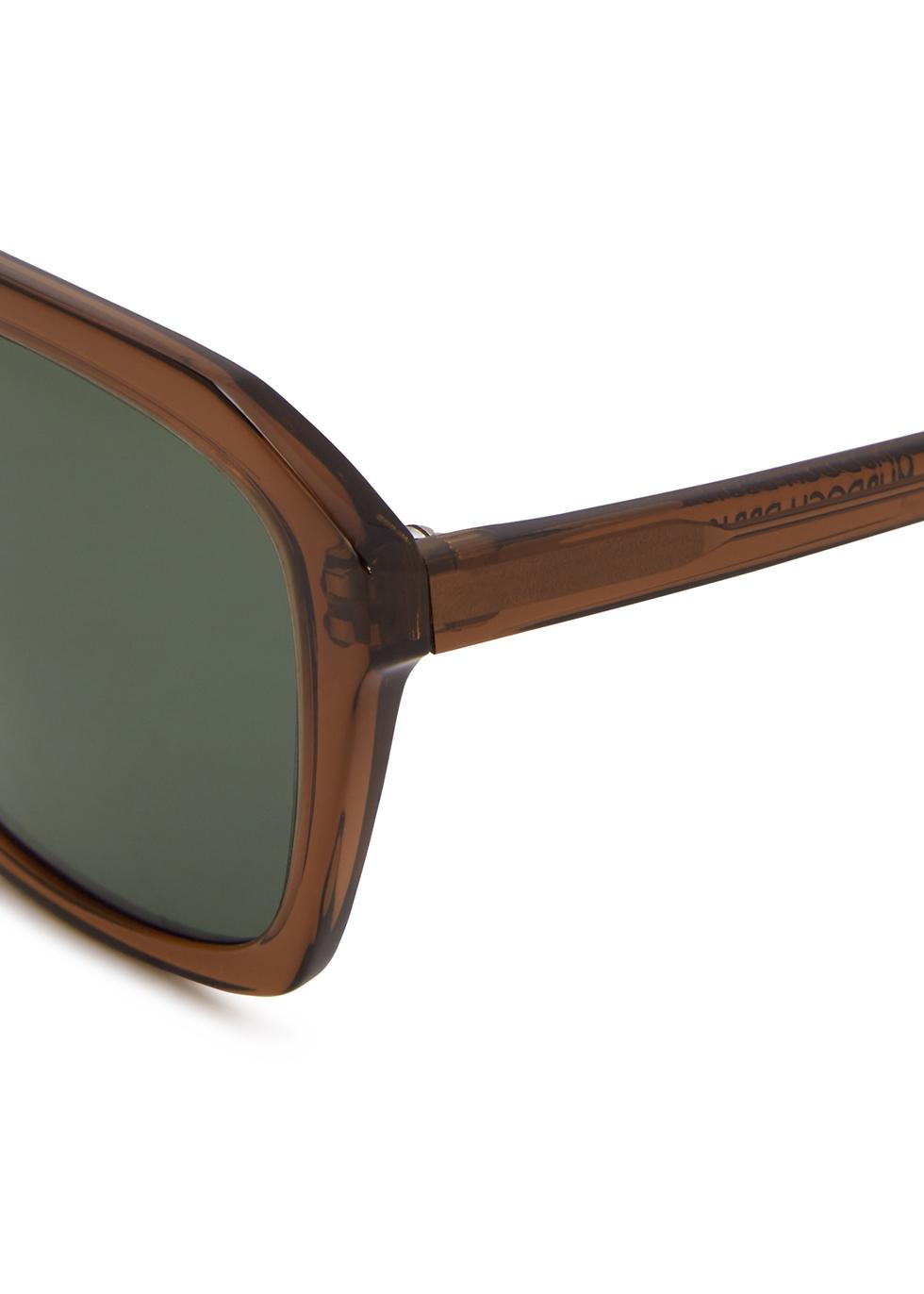 Murdoch brown D-frame sunglasses - Finlay & Co