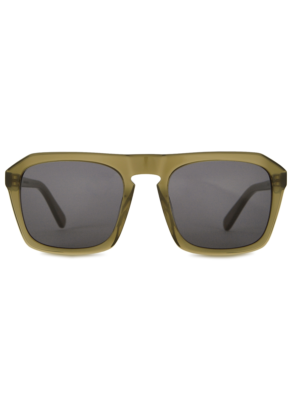 Murdoch army green D-frame sunglasses - Finlay & Co