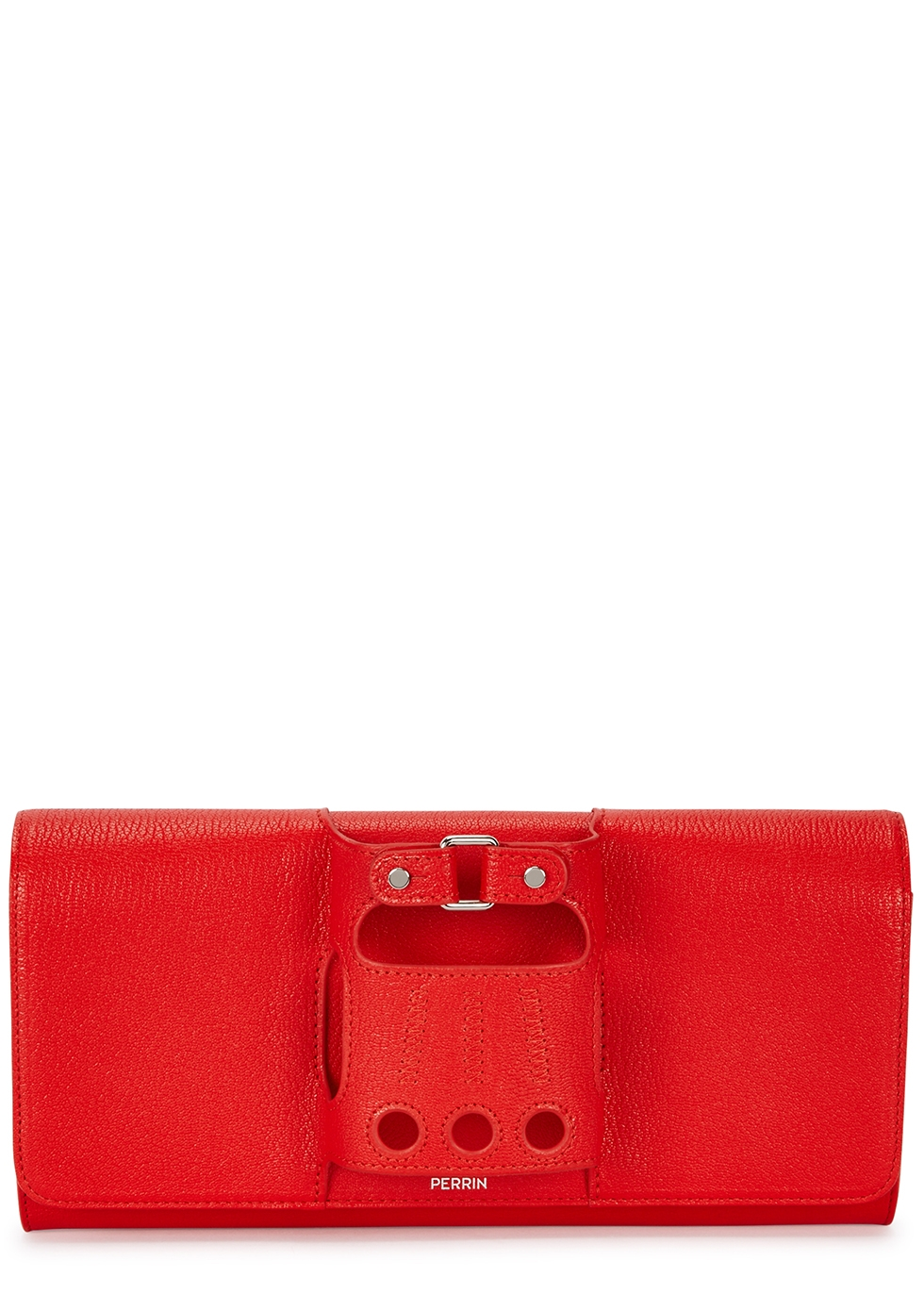 PERRIN Le Cabriolet Red Leather Clutch