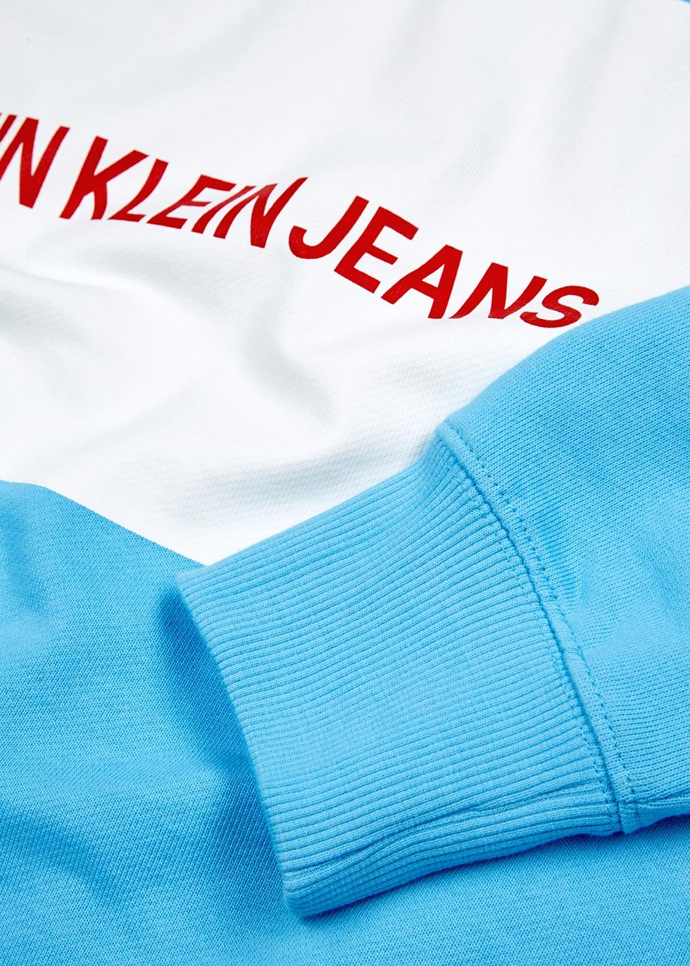 Light blue logo cotton sweatshirt - Calvin Klein Jeans
