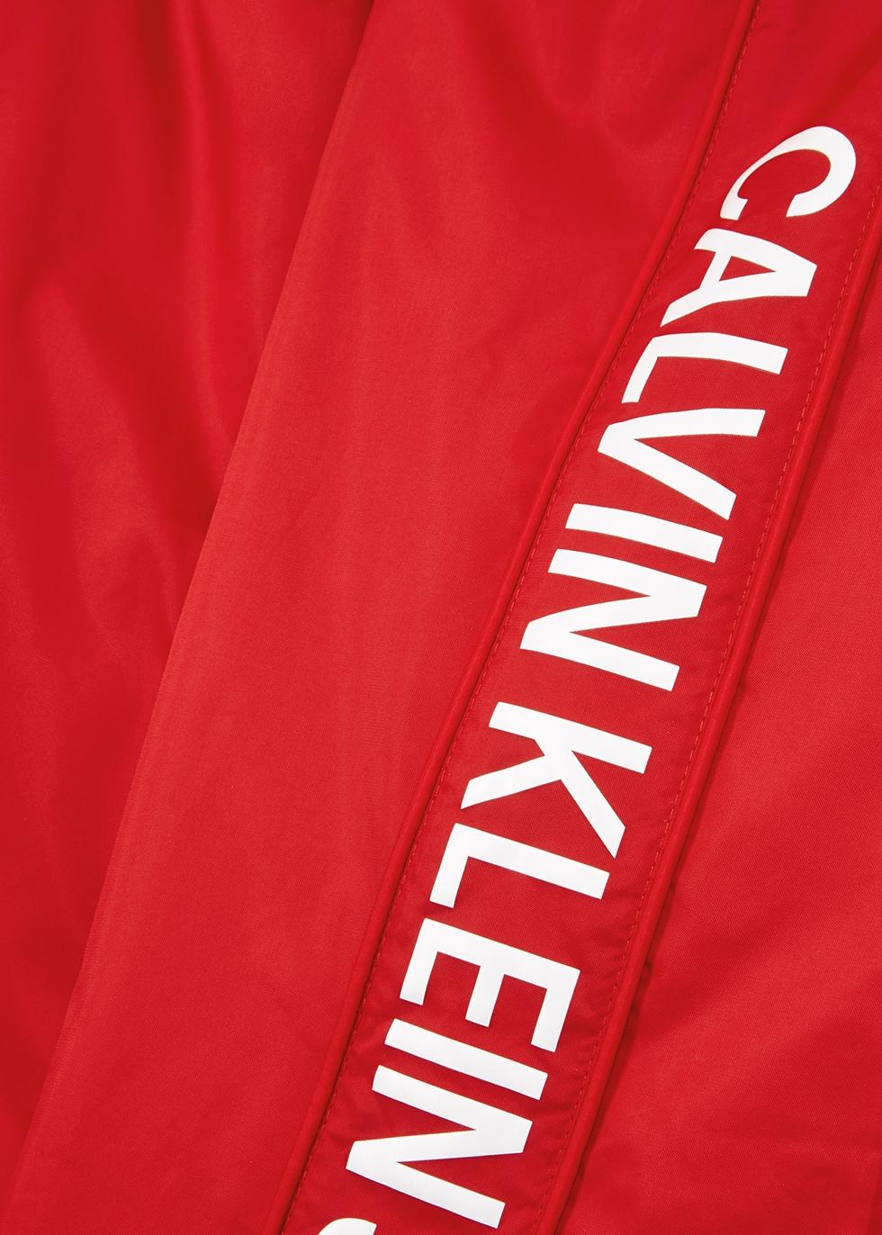 Red logo-print shell jacket - Calvin Klein Jeans