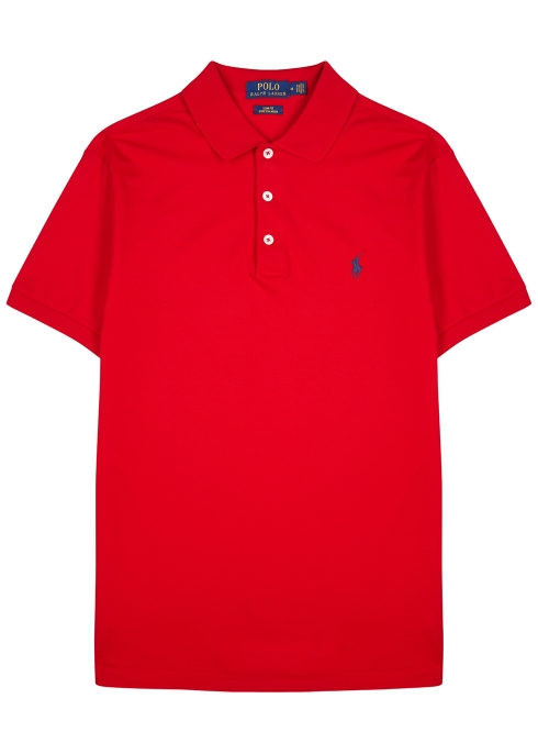 c5ba4684a Polo Ralph Lauren Red slim piqué stretch-cotton polo shirt - Harvey ...