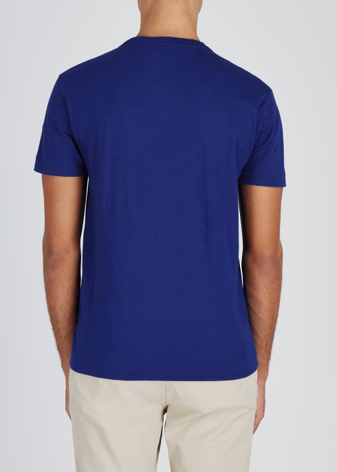 743cc3f6970a7 Polo Ralph Lauren Dark blue slim cotton T-shirt - Harvey Nichols
