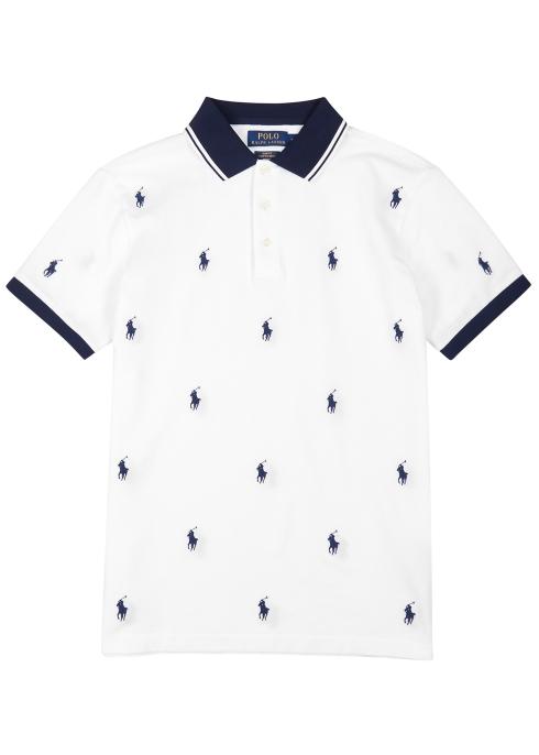 bca3f95dda9a Polo Ralph Lauren Embroidered stretch-cotton polo shirt - Harvey Nichols