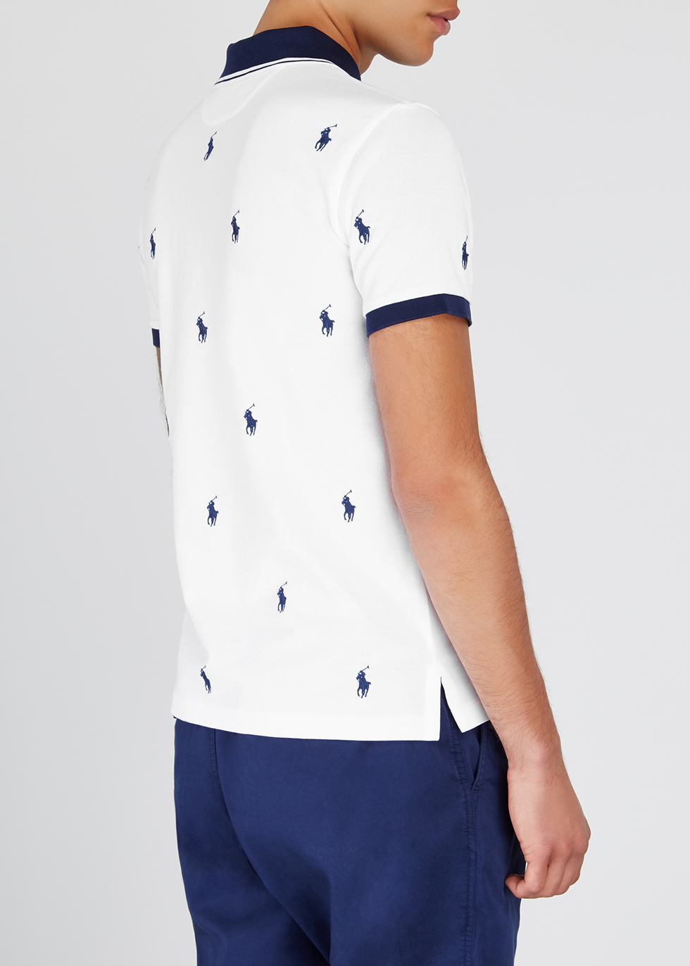 Embroidered stretch-cotton polo shirt - Polo Ralph Lauren