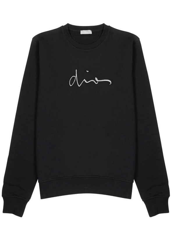 Black logo-embroidered cotton sweatshirt ... 6dad31330147e